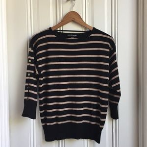 Cable & Gauge Tan Striped Sweater